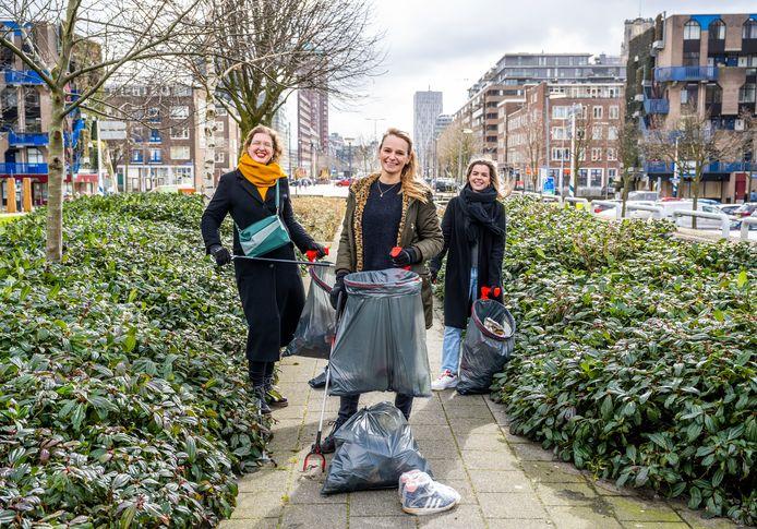 Annabelle Oosterwijk, Juliette Lutje Schipholt en Marloes Clarijs (vlnr) hebben de Binnenrotte aangepakt.