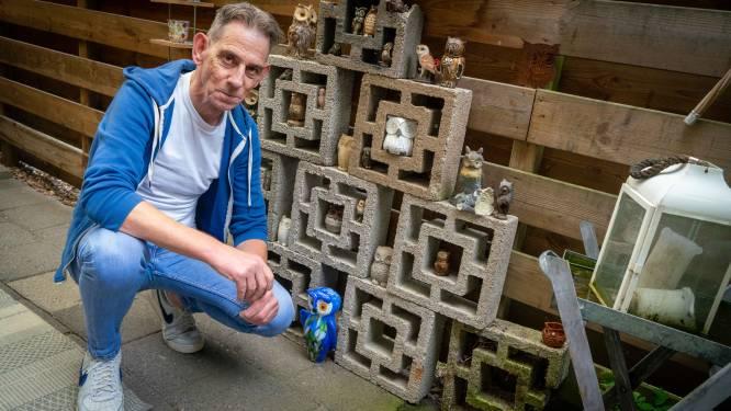 Patioblokken houden de herinnering aan Rons vader levend: 'Ik kan en wil ze niet wegdoen'