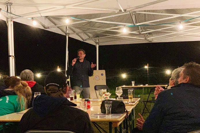 Wim Soutaer tijdens de vorige 'Summerbar' van Charlie's Events&More in Haaltert.