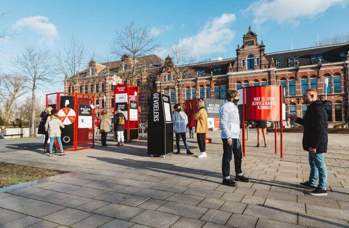 De installatie in Amsterdam.