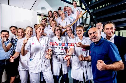 Vreugde bij de medewerkers van het Jeroen Bosch Ziekenhuis.