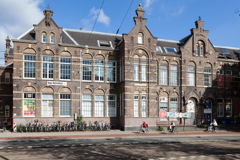 Het verenigingsgebouw aan de Zeeburgerdijk waar het museum gaat huisvesten. Beeld Nina Schollaardt