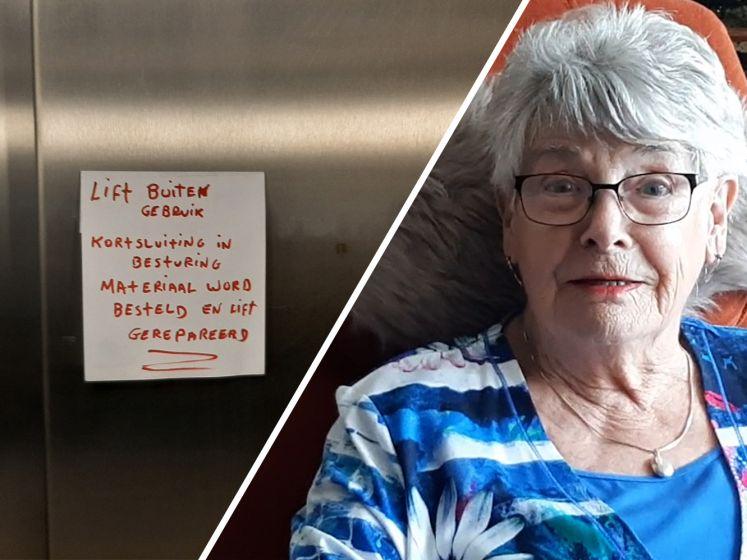 Wieke (85) kan al twee weken geen kant op door defecte lift