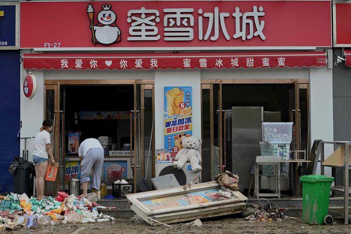 Het opruimen in Zhengzhou is vandaag in volle gang.