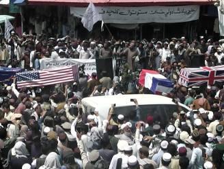 Taliban-aanhangers houden nepbegrafenis bij vertrek VS en NAVO uit Afghanistan