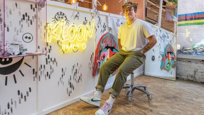 """Kloon Graphics maakt de kleurrijkste 'wandtapijten' in Cimorné: """"Tekenen, maar dan met wol"""""""