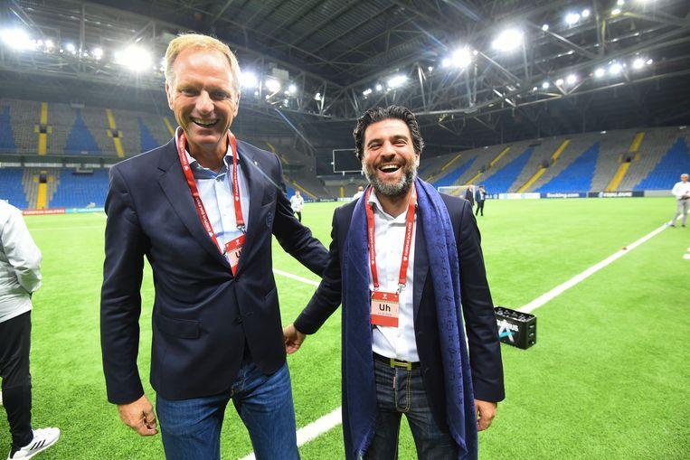 CEO Peter Bossaert met bondsvoorzitter Mehdi Bayat in Nur-Sultan.