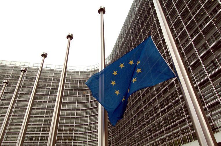 Het Berlaymontgebouw alwaar de Europese Commissie gezeteld is. Foto EPA Beeld