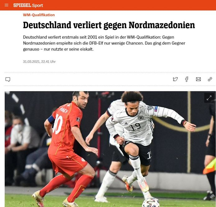 Ook Der Spiegel was streng, vooral voor de bondscoach.
