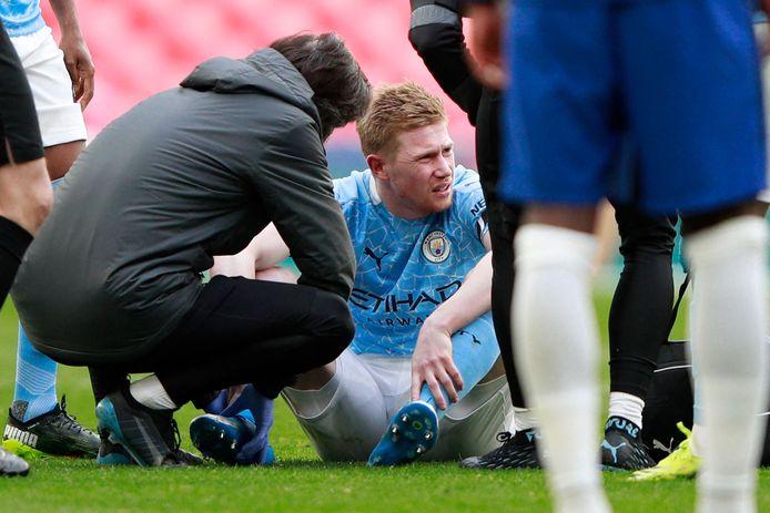 Kevin De Bruyne s'est blessé lors de la demi-finale de la FA Cup perdue contre Chelseau (défaite 1-0).
