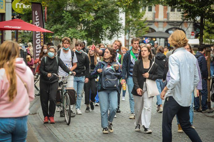 LEUVEN BELGIE 27/09/2021: Start Van Academiejaar aan de KUL.