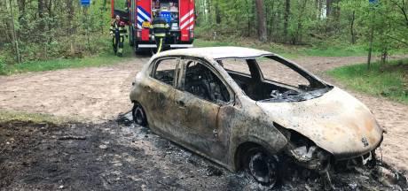 Gestolen auto uitgebrand teruggevonden in Helvoirt