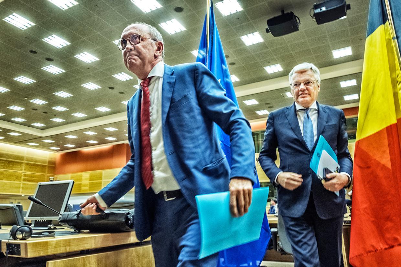 Informateurs Johan Vande Lanotte en Didier Reynders. Beeld Tim Dirven