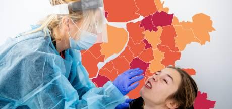 KAART | Verdubbeling aantal nieuwe besmettingen in deel Gelderland, negatief record voor Hattem