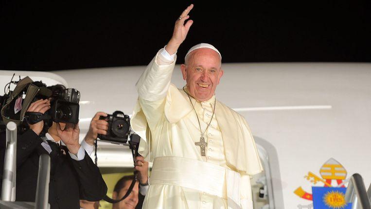 De Paus tijdens zijn bezoek in Mexico Beeld epa