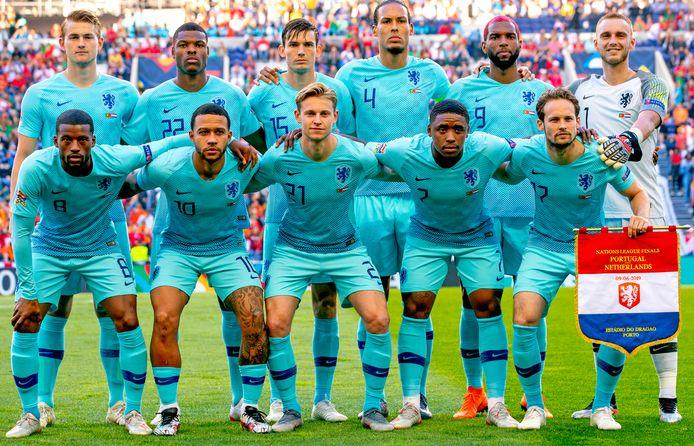 Koeman stuurde deze elf het veld in tijdens de Nations League-finale tegen Portugal.