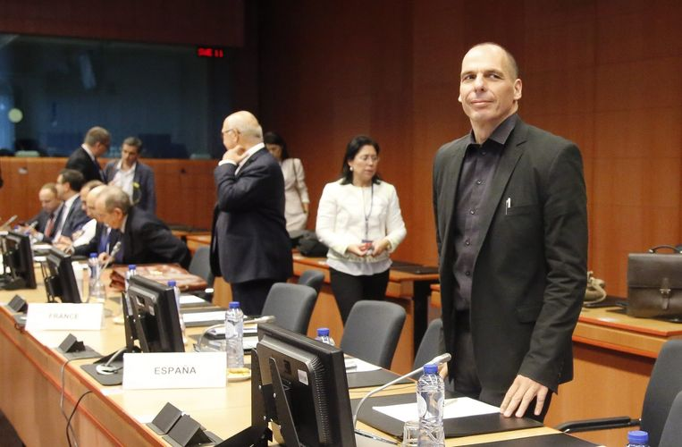 Grieks minister van Financiën Yanis Varoufakis. Beeld EPA