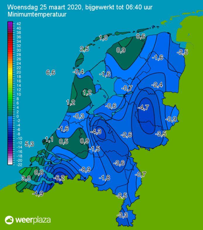 Het was in West-Brabant beduidend kouder dan in de rest van Nederland.
