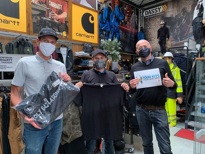 """La société flémalloise Sagedis va fournir des """"kits sans-abris"""" à huit associations."""