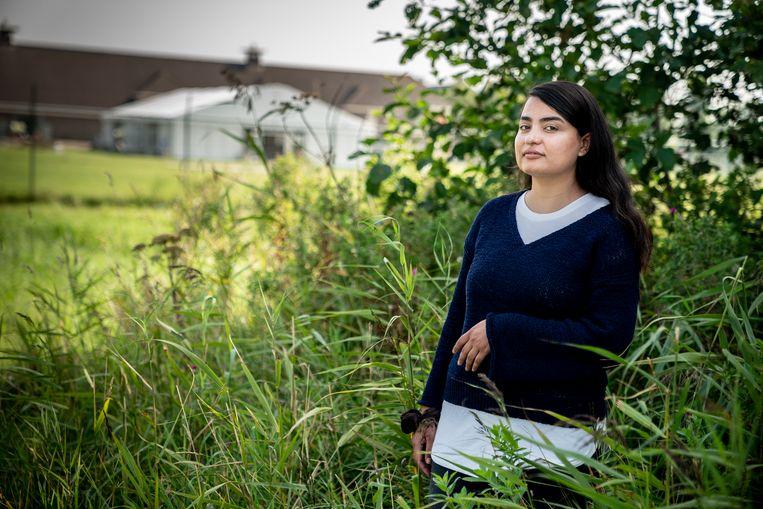 Tahmeena Sattari: 'Ik heb dingen opgebouwd in mijn land, maar dat was binnen  een dag verdwenen'.  Beeld Reyer Boxem