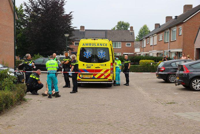 Bij een steekpartij in Reusel raakten twee mannen gewond.