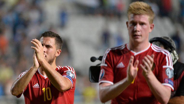 Eden Hazard en Kevin De Bruyne staan op de lijst van 59 topvoetballers.