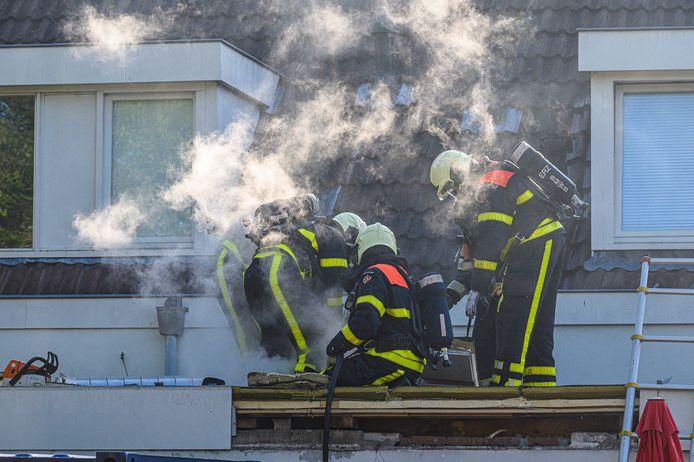 Een deel van het dak moest worden gesloopt