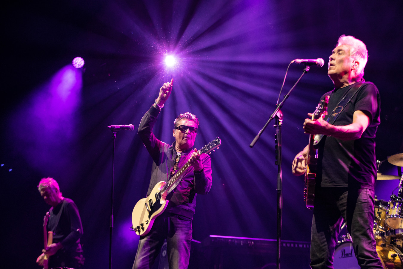 Rinus Gerritsen, zanger Barry Hay en gitarist George Kooymans