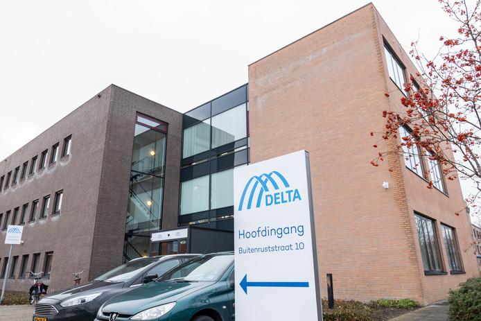 Het kantoor van Delta Fiber Nederland en Delta Energie aan de Buitenruststraat in Middelburg.