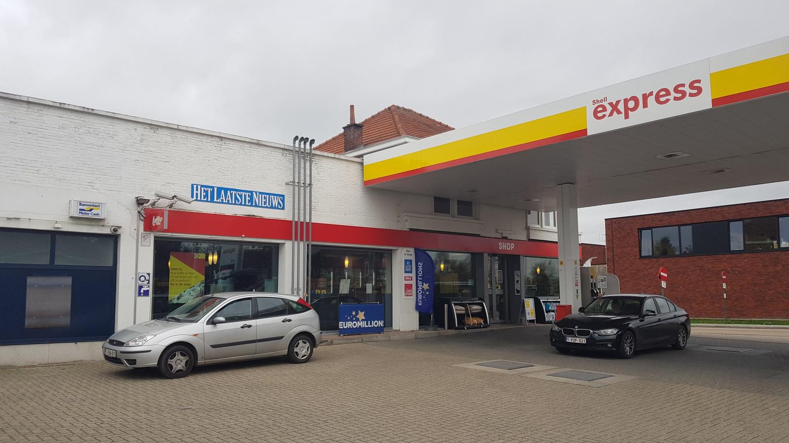 tankstation SHELL aan de Aarschotsesteenweg
