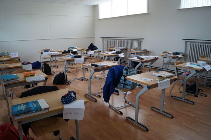 Een van de nieuwe klaslokalen