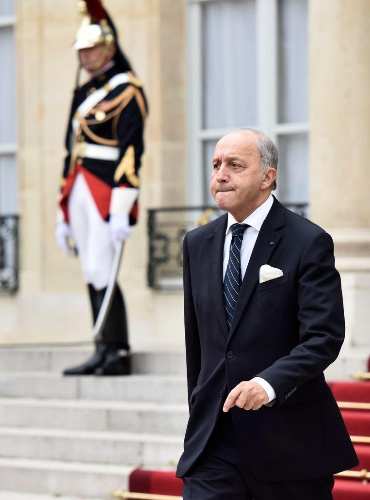 De Franse buitenlandminister Laurent Fabius. Beeld PHOTO_NEWS