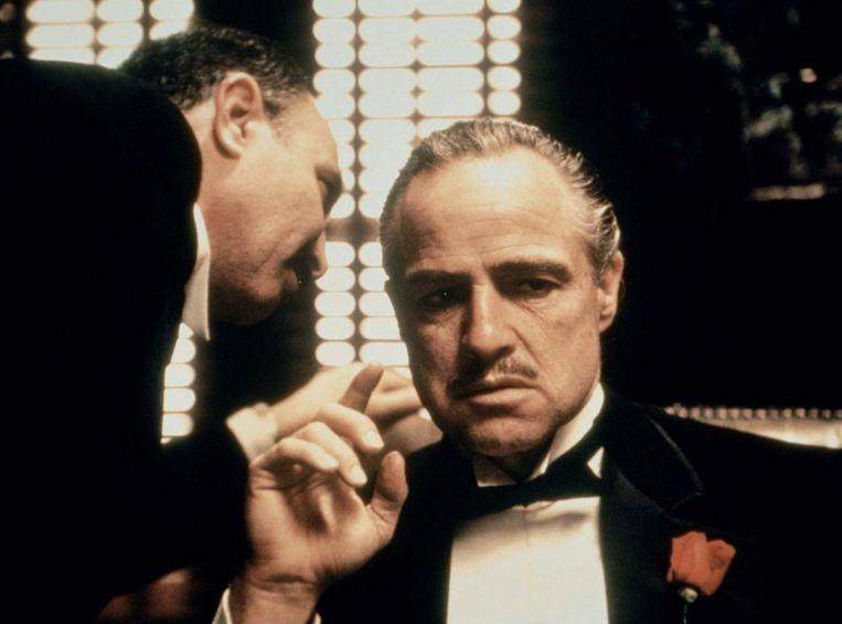 Salvatore Corsitto en Marlon Brando in The Godfather van Francis Ford Coppola. Beeld