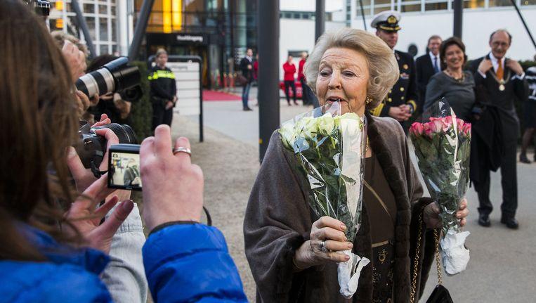 Prinses Beatrix tijdens de eerste uitreiking van de Prins Friso Ingenieursprijs op 18 maart van dit jaar. Beeld anp