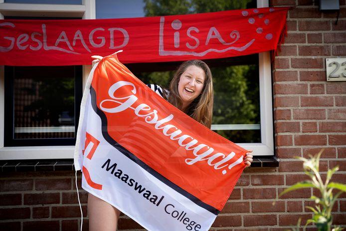 Lisa Aalbrecht slaagde dit jaar op het Maaswaal College.