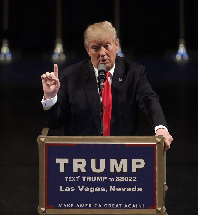 Trump in Las vegas. Beeld afp