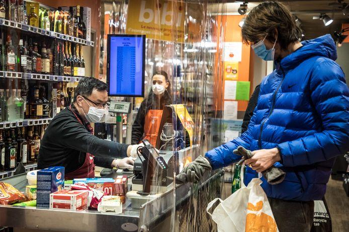 Supermarché à Paris (illustration)
