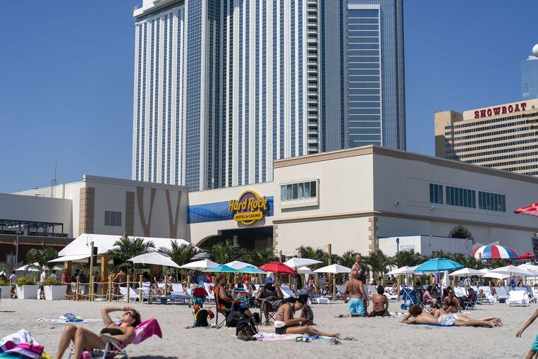 Het gokpaleis Taj Mahal in Atlantic City, dat onder Trump failliet ging en dat nu, in handen van de Seminoles, wel goed draait.  Beeld AFP