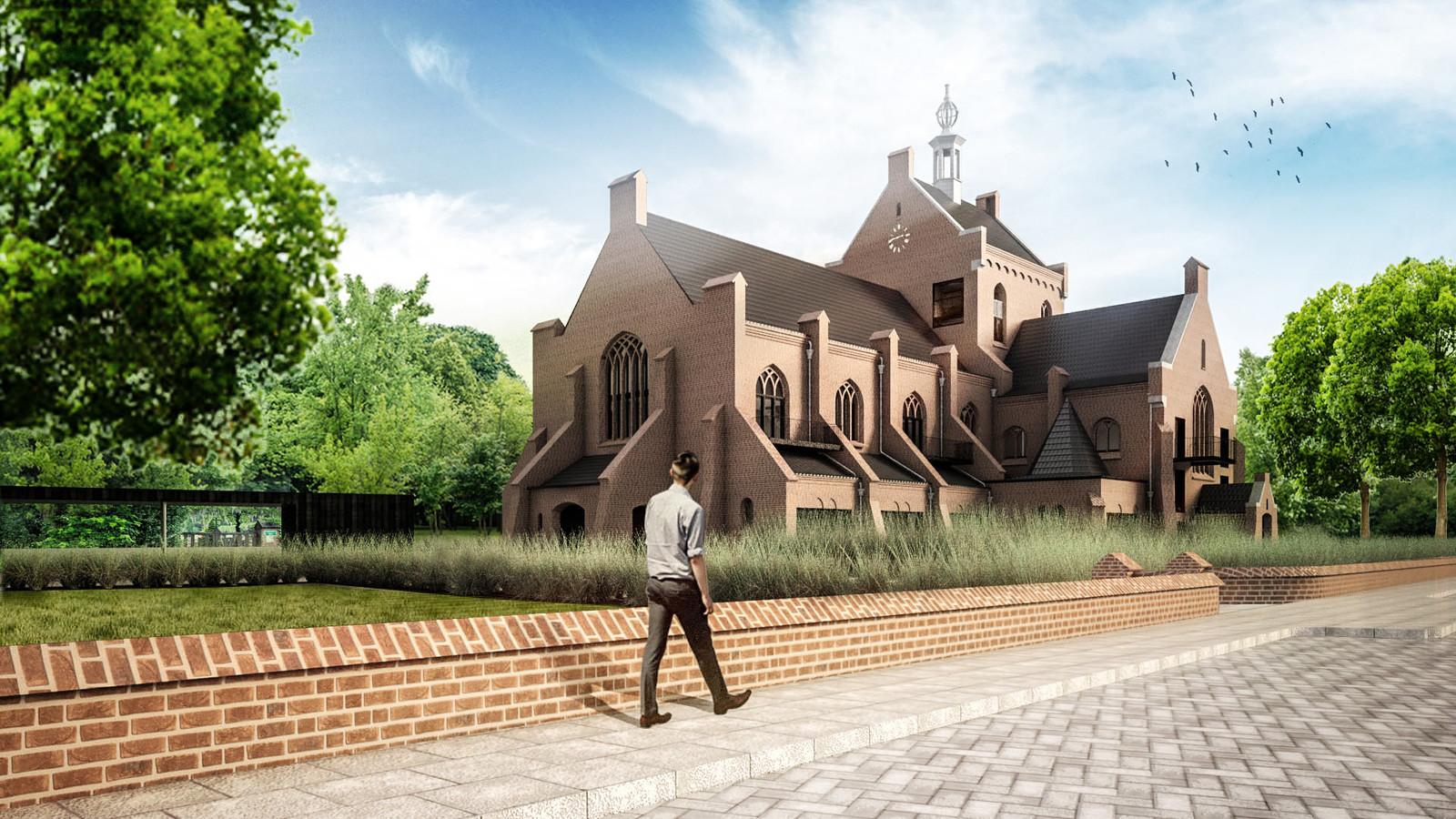 Een impressie van de Maria Boodschapkerk zoals die moet worden.