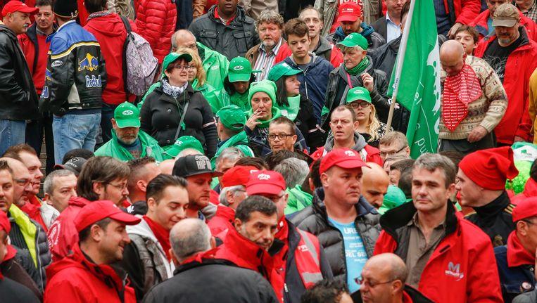 Betogers blazen vandaag verzamelen in Brussel. Beeld BELGA
