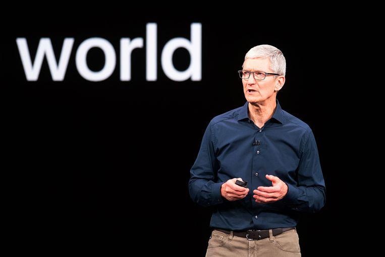 Apple-CEO Tim Cook Beeld AFP