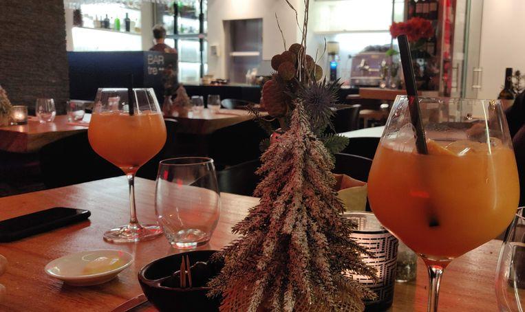 Een winterse touch op de tafels bij BAR tre.