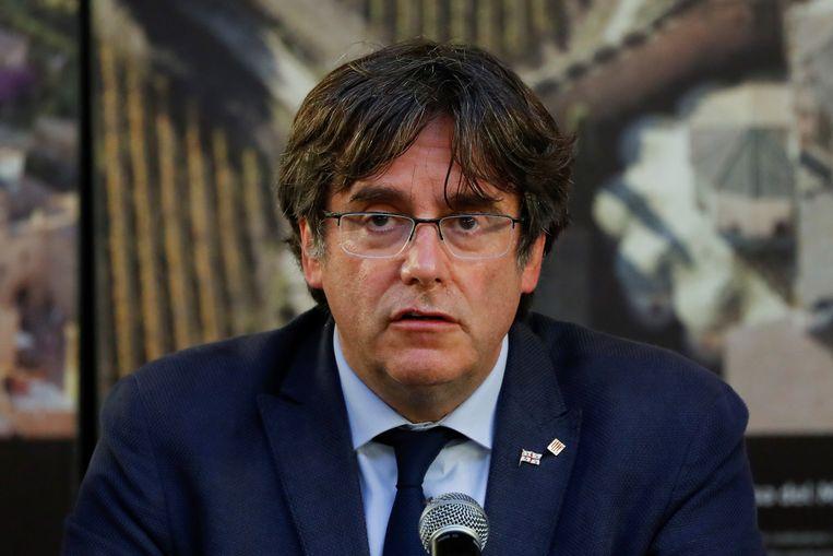 Gewezen Catalaans president Carles Puigdemont. Beeld REUTERS