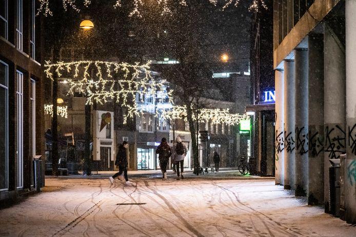Sneeuw in het centrum van Nijmegen.
