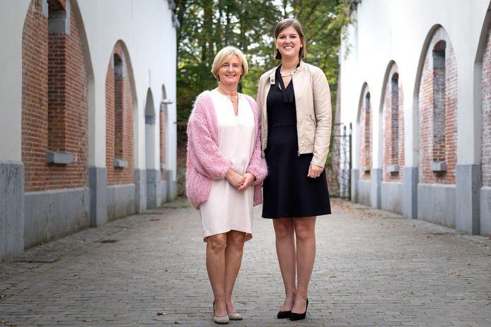 Schepen Lili Stevens (CD&V) en burgemeester Sofie Joosen (N-VA) zien de komende zes jaar rooskleurig tegemoet.