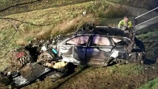 Drie Utrechters verongelukten in een Audi na een plofkraak