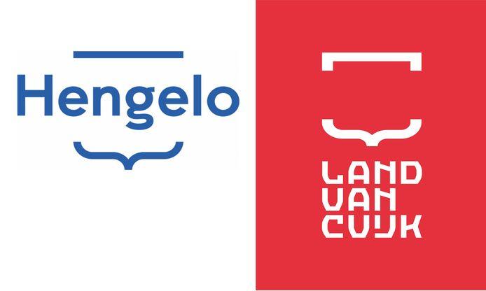 De logo's van Hengelo Promotie en van de nieuwe gemeente Land van Cuijk