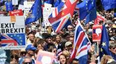 fotoreeks over Anti-brexitmars: duizenden Britten op straat in Londen
