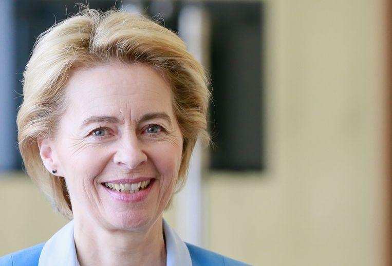 De voorzitter van de Europese Commissie, Ursula von der Leyen. Beeld EPA