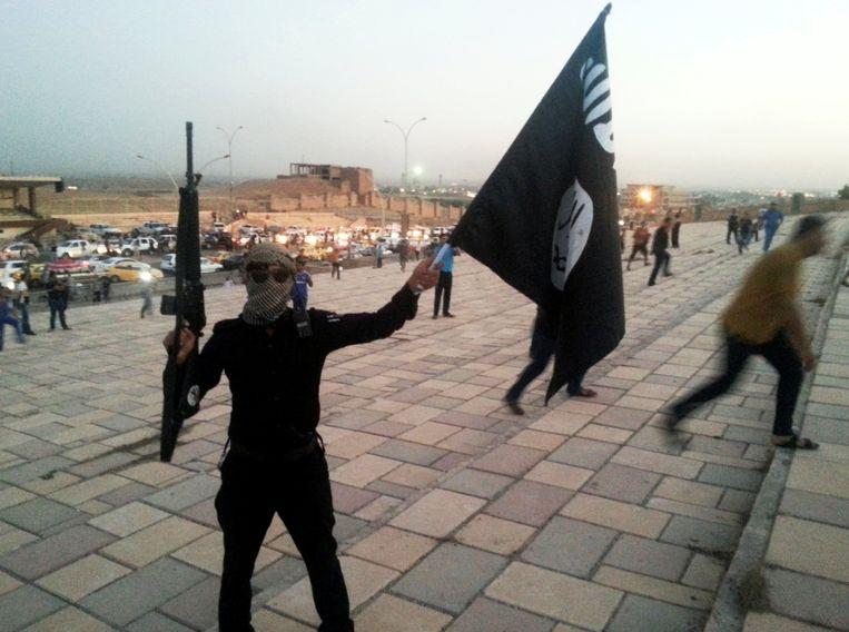 Archiefbeeld van IS uit 2014, Mosoel.  Beeld REUTERS